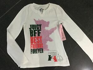 8a1d0c5ed168 NWT Juicy Couture New White Long Sleeved Cotton T-Shirt With Logo ...