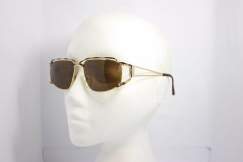Maga Vintage Sunglasses Made in Italy 3059T 60mm NOS Gold Brown Havana