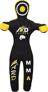 ARD Brazilian Grappling Canvas Straight Dummy MMA Wrestling Judo Black/Yellow
