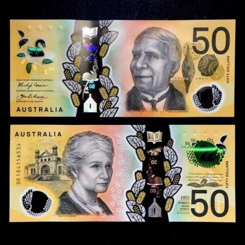 2018 AUSTRALIA 50 DOLLARS POLYMER P-NEW UNC /> DAVID UNAIPON EDITH COWAN