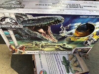 NEW Jurassic World Fallen Kingdom Quest For Indominus Rex Pack Mosasaurus Dino