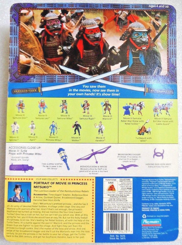 1992 PLAYMATES TOYS TMNT APRIL O'NEIL O'NEIL O'NEIL & PRINCESS MITSU MOVIE ACTION FIGURE MOC 5d9794