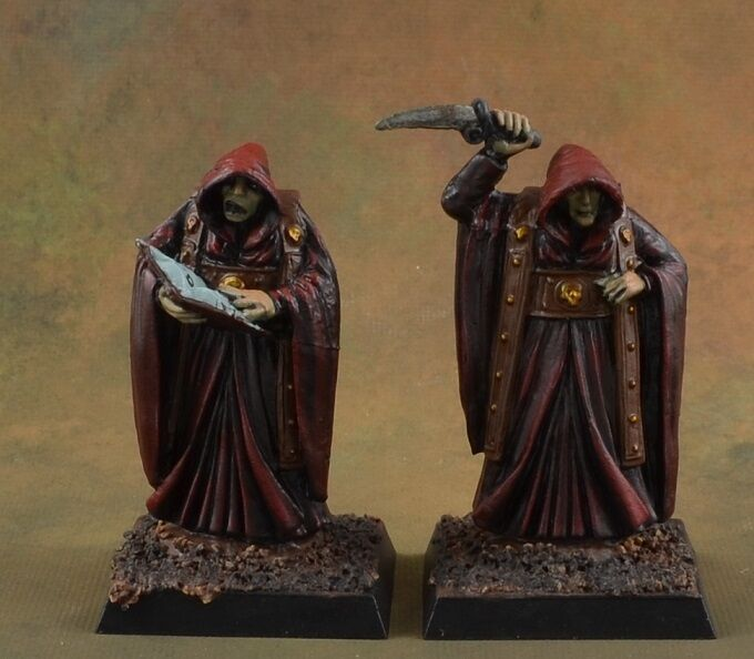 Painted Painted Painted Cultists with Summoning Circle from Reaper