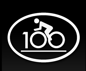 Oracal Decal Sticker BIKE CYCLING CENTURY RIDING 3 Choices 100, 200 or 300