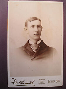 Vintage-Cabinet-Card-Photo-Victorian-View-Young-Man-by-Bellsmith-Denver-CO