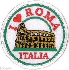 "I Love Roma (Italia) Embroidered Patch 7cm (2 3/4"")"