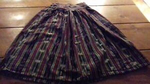 Multicolore Femme Jupe - 100% Coton-made In Guatemala-neufs-afficher Le Titre D'origine
