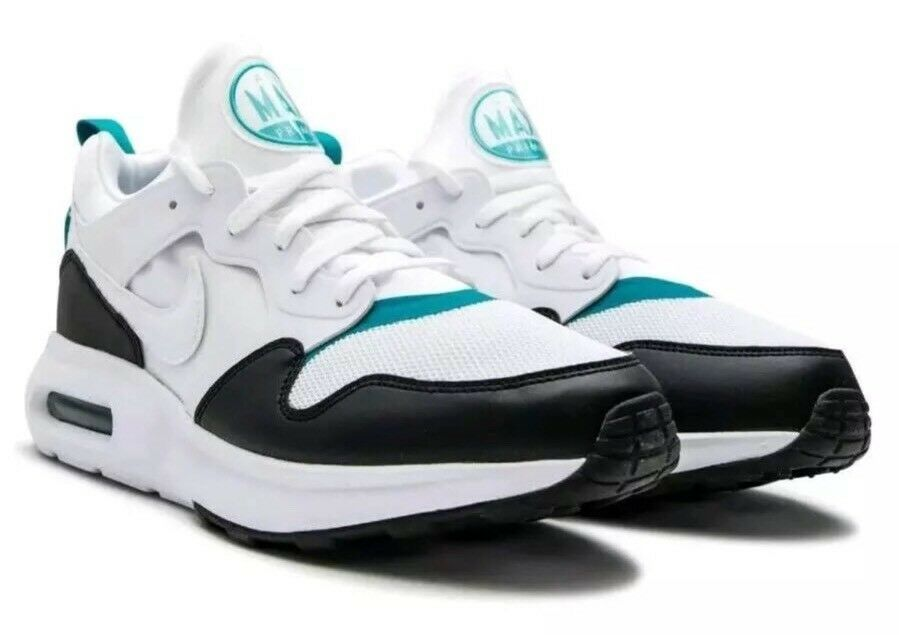 $110 Nike Air Max Prime Running Shoes Men's Sz 11.5 White/Black/Green 876068-103