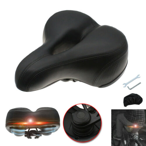 US FREE SHIPP Comfort Bike Seat Pad Extra Wide Gel Cruiser Soft Bicycle Saddle