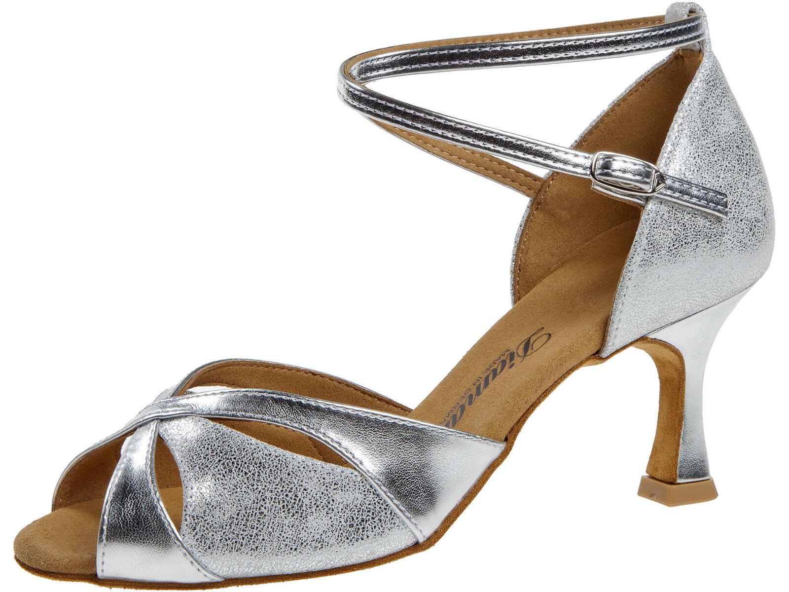 Diamant 141-087-463 Tanzschuhe Damen silber Ballschuhe - Absatz 6 6 6 5 cm 23d17c