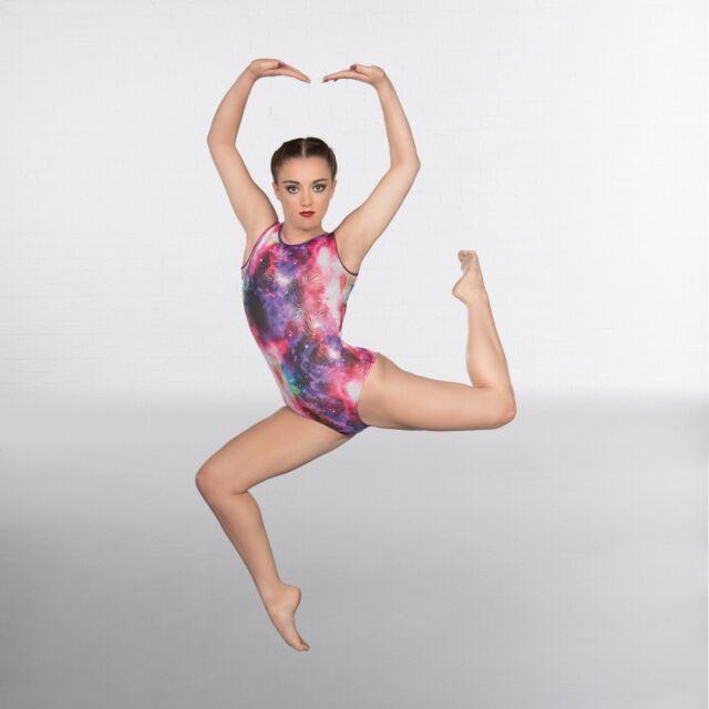 290ec09f4a1 1st Position Galaxy Sleeveless Gymnastics Dance Leotard 3-4 Years ...