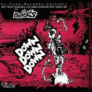 BRIOLES-Down-Down-Down-7-inch-EP-PINK-VINYL-rockabilly-psychobilly-new