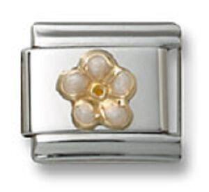 Plumeria-Flower-9MM-Italian-Charm-Fits-Stainless-Steel-Modular-Link-Bracelet-18K
