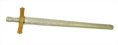 Chevalier Épée & Fourreau accessoire robe fantaisie plastique jouet ou 64 cm bronze argent