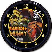 The Mummy Horror Movie Boris Karloff Wall Clock Classic Vintage Retro 10