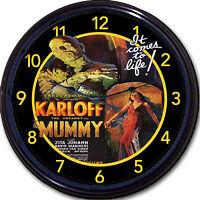 The Mummy Horror Movie Boris Karloff Wall Clock Classic Vintage Retro 10