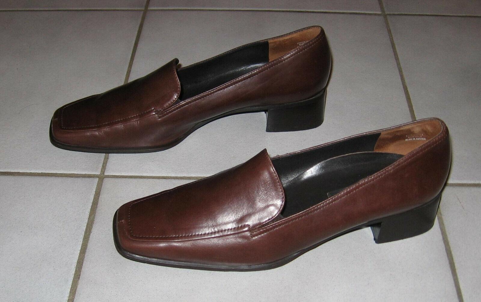 Paul Grün Damen Slipper   Loafer, Größe 7 (EU 40), Braun, Echtleder, Handmade