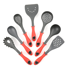SILICONE KITCHEN UTENSILS SET UTENSIL SPATULA COOKING BAKING SPATULAS SETS RED