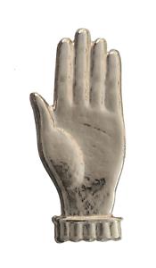 Open Hand Raised Nickel-Plated Symbol For Orange Order Collarette