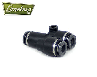 """Push Lock Y-Piece 1/4"""" Air Ride Connector PTC Airlift Fitting DOT Line Adapter"""
