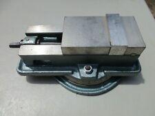 Enco Locked Type Milling Machine Vise 425 7241 4 Jaws With Swivel Base Amp Handle