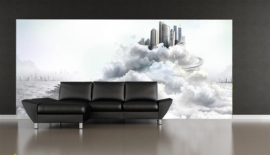3D Kreative Wolkenstadt 84 Tapete Wandgemälde Tapete Tapeten Bild Familie DE