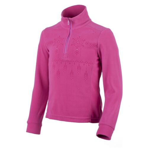 CMP Fleece Pullover Leisure Top Function Pink Collar Insulating