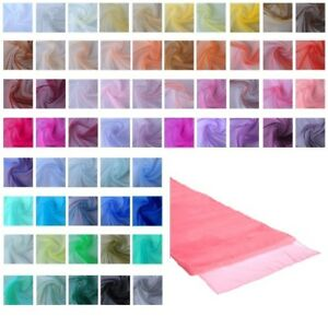 NEW-Coloured-Organza-Table-Runner-Chair-Sash-Wedding-Party-Fabric-Decoration
