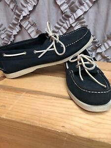 how to buy unique design beauty Details about Men's CLARKS navy blue summer 11 leather BOAT SHOES loafers  Awesome!