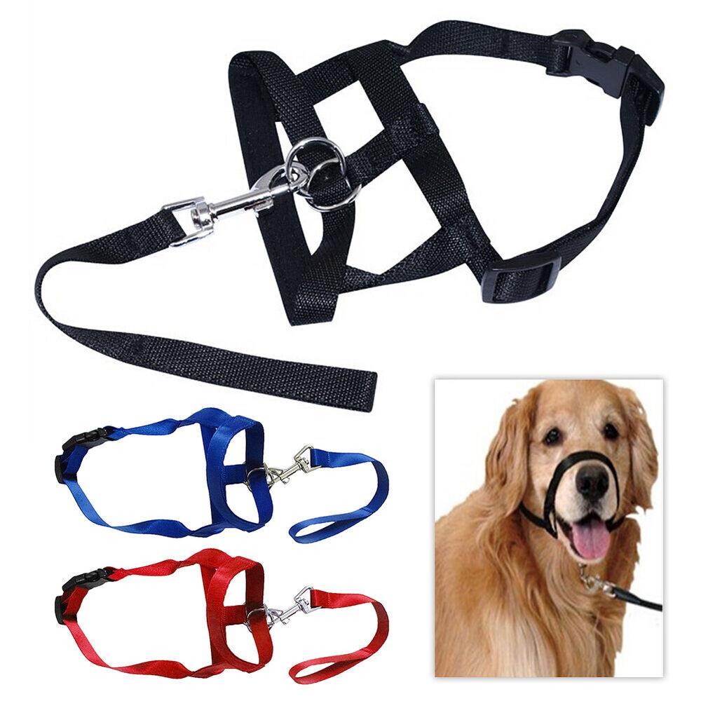 Soft Nylon Dog Pet Head Collar Training Mouth Cage Anti Bite