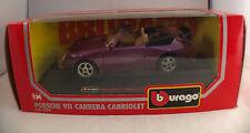 bburago ☆Porsche 911 Carrera Cabriolet n°0590☆ 1/24 ☆ en boîte/boxed