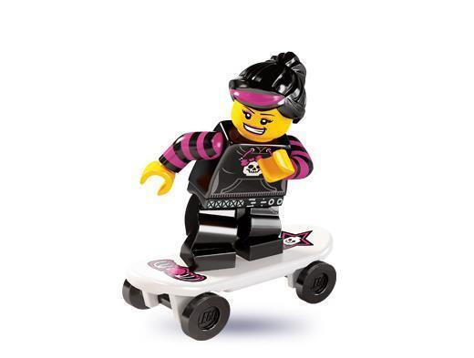 LEGO Minifigures collezione Serie 6 - Ragazza skater - Skater Girl, nuovo new