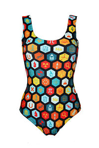 Cute-Science-Geometric-Geeky-Microscope-Space-Print-Swimsuit-Bodysuit-Swimwear