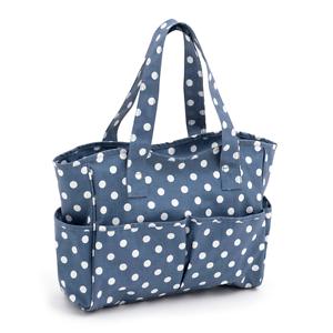 MRB\271 Demin Polka Dot Matt PVC HobbyGift Craft Bag