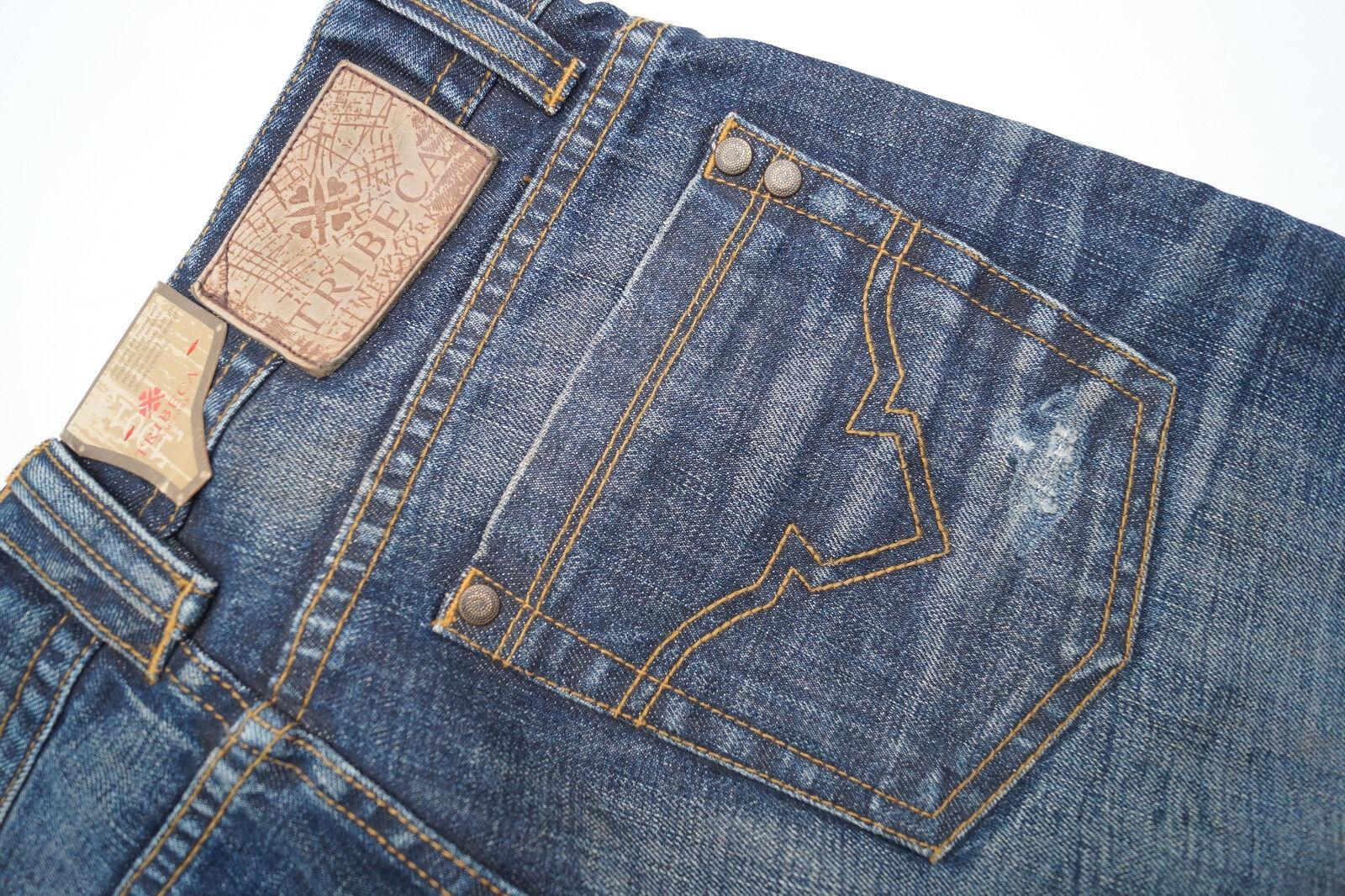 Tribeca Ny Hayden Corte Recto Pantalones Vaqueros de Hombre 30 34 W30 L34 Usado