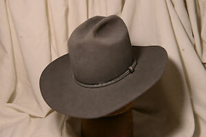Resistol 4X Steel Gray Classic Cattleman Cowboy Hat Size 7 1 4 Long ... b138cff0e17
