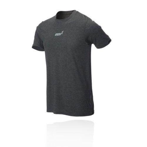 Inov8 Mens Tri Blend Short Sleeved T Shirt Tee Top Grey Sports Running Training
