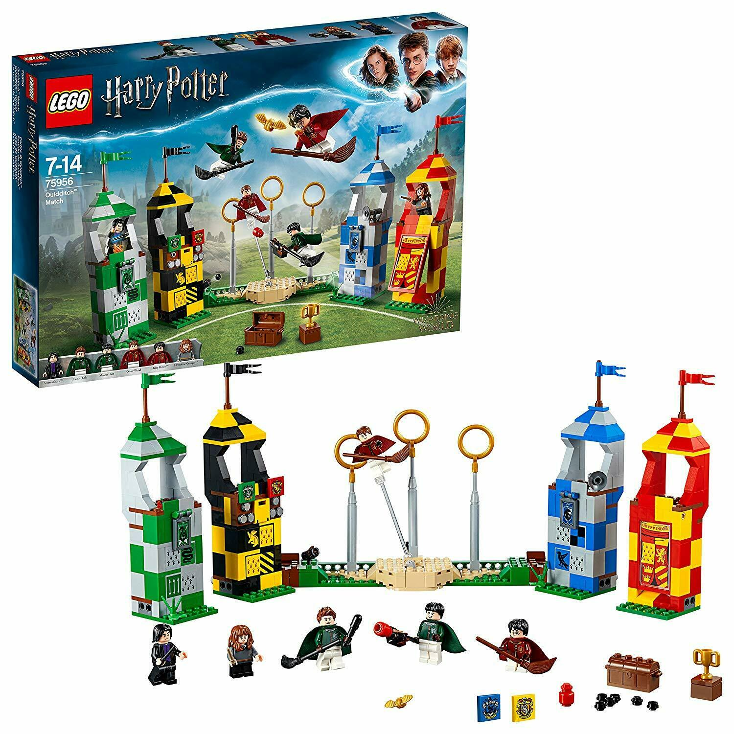 LEGO Harry Potter Quidditch Match Building Construction Set + Minifigures Towers