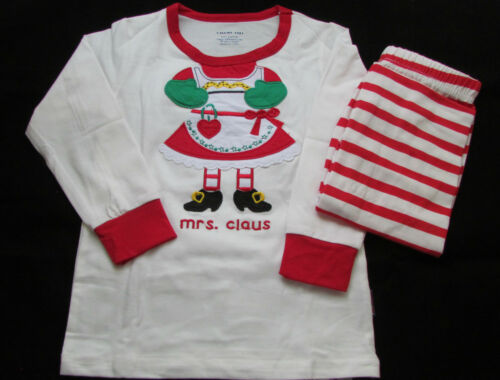 Little Girls Miss Santa Pajamas Gloves Outfit Father Christmas Xmas Eve Stocking