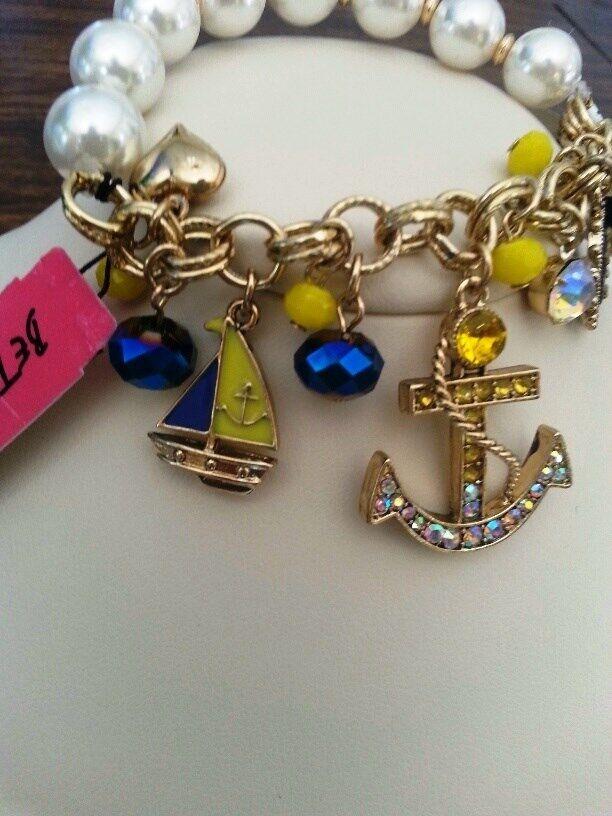 Betsey Johnson Nautica bracelet with anchors