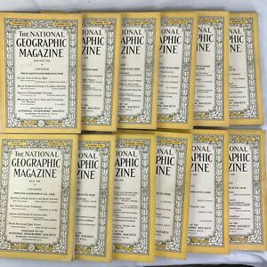 National-Geographic-Magazine-1926-Complete-Year-12-of-12-issues-Rare-Vintage