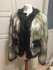 Lanvin for H&M Jacke Felljacke Fake fur EUR Größe 36 size US 6 size UK 10