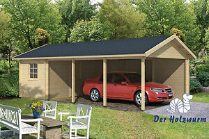 carport ever mit ger teraum 770x430cm garage holz. Black Bedroom Furniture Sets. Home Design Ideas