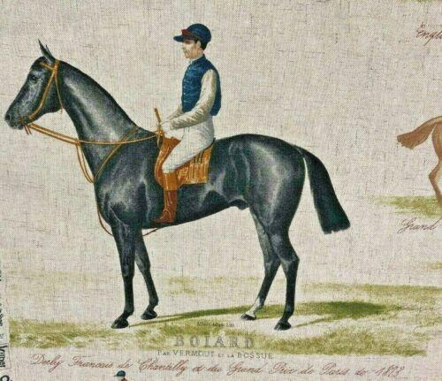 Derby Ascot Horse Trails Dressage Tissu de Lin-Double Largeur 280 cm large