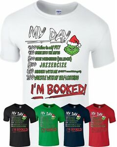 68217aa6d The Grinch Movie T-Shirt I Am Booked That Stole Hate Christmas Gift ...