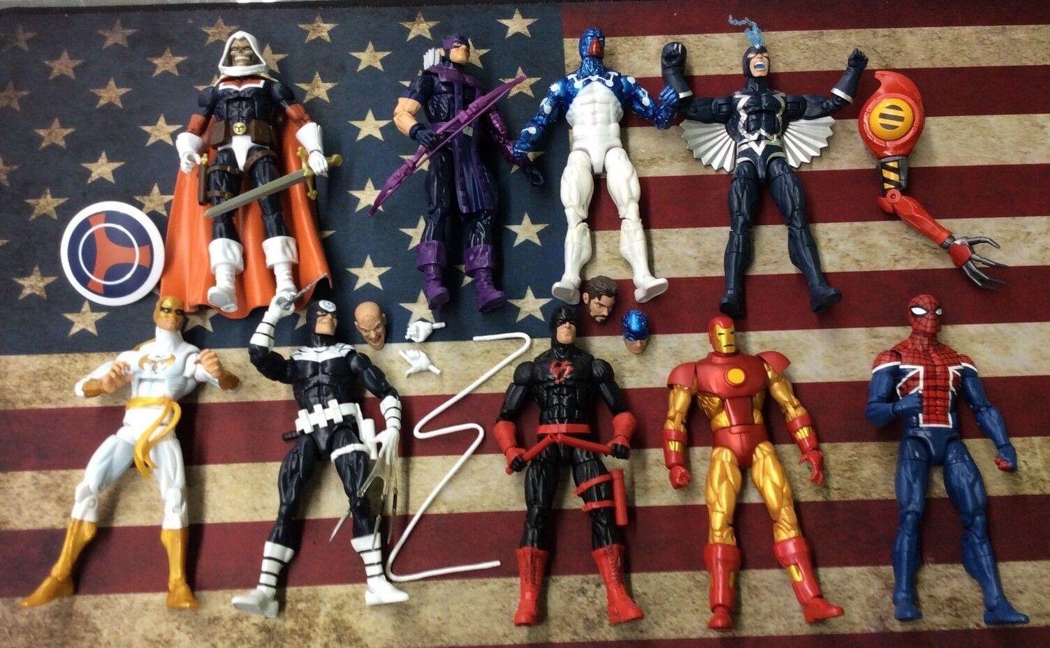Hasbro Marvel Legends Action Figures Lot  Daredevil Spiderman & More  Pics