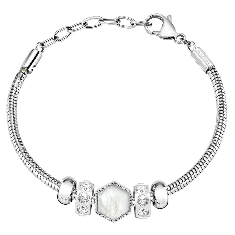 80b1d3a3b3 Bracciale MORELLATO DROPS women SCZ1009 bracelet acciaio COMPONIBILE ZIRCONI