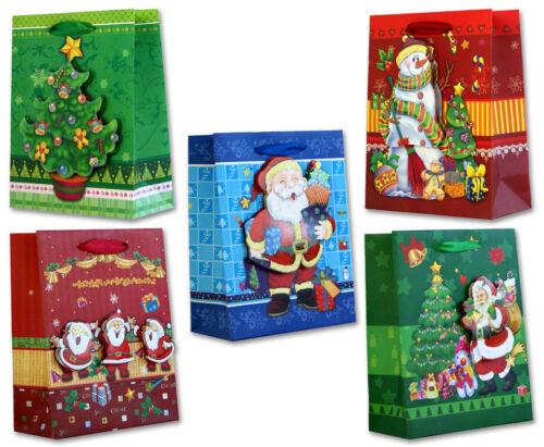 20 Geschenktüten Weihnachten 23x18x8,5 HANDMADE 3D Weihnachtstüten 22-0132