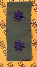 USAF Air Force LTC Lieutenant Colonel OD Green & Blue rank patch set