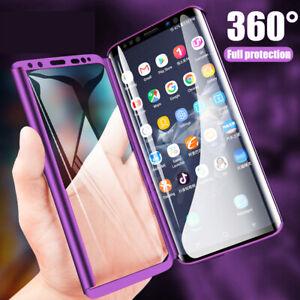 on sale adbde b615b Details about 9H Glass Film+360° Full Cover Case for Xiaomi Redmi Note 7 6  Pro/Mi 6 Armor Case
